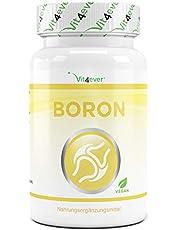 Boron - 3 mg pure boor per tablet - 365 tabletten in jaarvoorraad - laboratoriumgetest (gehalte aan werkzame stoffen en zuiverheid) - zonder ongewenste toevoegingen - hoge dosis - veganistisch