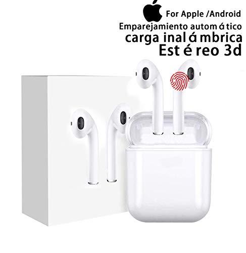 Auriculares inalámbricos Bluetooth 5.0, Auriculares inalámbricos idnternos, IPX7 a Prueba de Agua, reducción de Ruido estéreo 3D, Compatible con iPhone/Huawei/Samsung /(2.ª generación