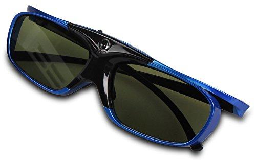 Luxburg® GL-3D-Shot3-01-04 Hi Shock DLP Pro 3D Activ-Brille für 3D-Projektoren Beamer oder Fernseher blau/weiß