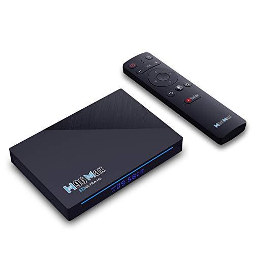 H96 MAX Android 11 TV Box RK3566 4GB 32GB Smart Set Top Box Soporte 8k con WiFi de 2.4 g / 5.8GHz con AC & BT 4.0 Streaming Media Players