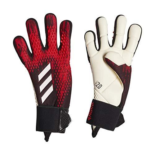 adidas PRED GL PRO J, Guanti da Calcio Unisex Bambini, Black/Active Red, 4