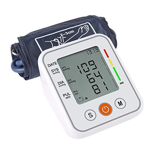Monitor de presión Arterial portátil automático para el Brazo Superior pressao Cuff Tonometer Brazo Esfigmomanómetro Tensiómetro Medidor de frecuencia cardíaca-1_sin Voz