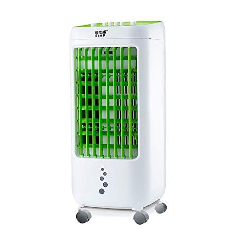 Everyday home Klimaanlage Fan Home-Office-Innen-Sommer-Kühlschrank, 3-Gang-Einstellung und 4L Wasserkapazität Mini-Kaltventilator kleine Klimaanlage (Farbe : Green, größe : 26 * 28 * 62cm)