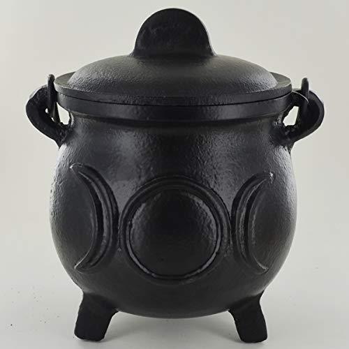 Gietijzeren ketel drievoudige maan grote heks & magische accessoire voor Wicca drankjes neopaganisme geschenk