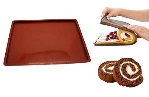 36x28cm Non-Stick Silicone Baking Mat Pad Swiss Roll Baking Sheet Rolling Dough Mat Large Size for Cake Cookie Macaron Mat Pad