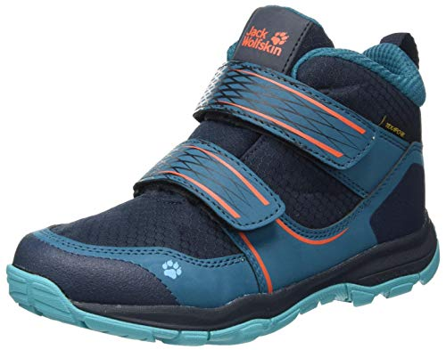 Jack Wolfskin Unisex Kinder MTN Attack 3 Texapore MID VC K Outdoorschuhe, Dark Blue/orange,35 EU