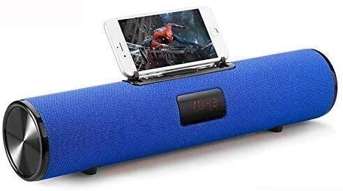 SQQSLZY Portable Bluetooth Speaker Column Wireless Sound Box 20W Music Subwoofer FM Radio TV TF AUX USB PC Soundbar for Xiaomi,Black,Colour:Red (Color : Blue)