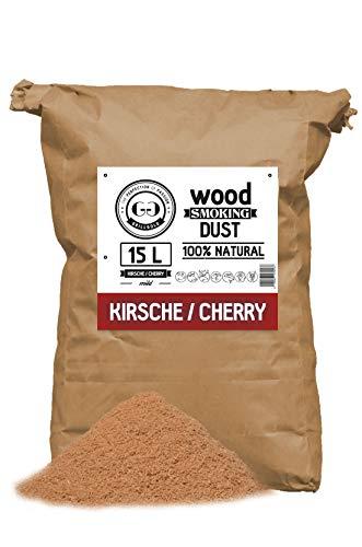 Grillgold Räuchermehl Wood Smoking Dust. Zum räuchen und kalträuchern von Fisch, Fleisch und Gemüse auch für BBQ und Grill geeignet. In Papier-Sack befüllt mit 15 Liter Kirsche