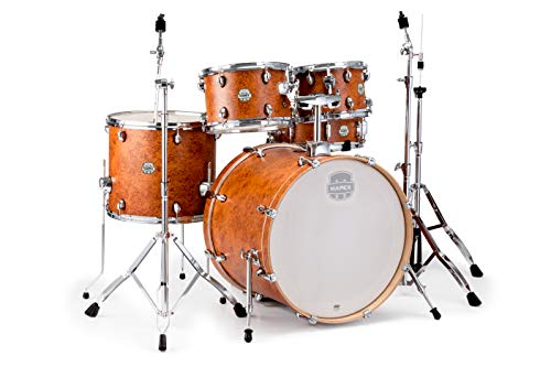 "Mapex ST5295FIC Storm Rock 22"" Bass Drum 5-piece Drum Set w/Hardware - Camphor Wood Grain w/Chrome"