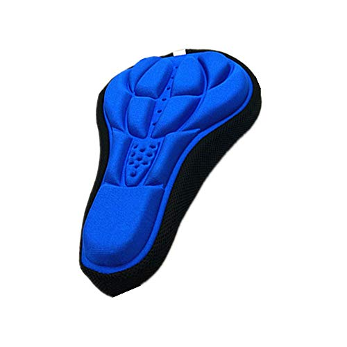 Blue bicycle cushion, bicycle cushion, 3D high material cushion, soft cushion, suitable for bicycle Mountain