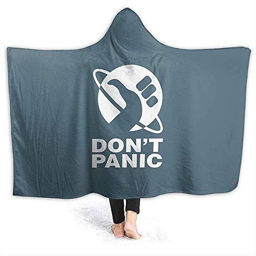 Auld-Shop Don 'T Panic Hoodie Decke Coral Plush Ultra Plush Sherpa Gefütterte Freizeitbekleidung Kapuzen-Überwurfhülle