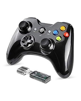 EasySMX Mandos de PC 2.4G, [Regalo] 2.4GHz Mandos PS3 con Batería Incorporada, Vibración Doble, Controller PS3, Gamepad PC y Joystick ps3 para Windows XP/ 7/8/10 /PS3/PC/TV Box de Andriod
