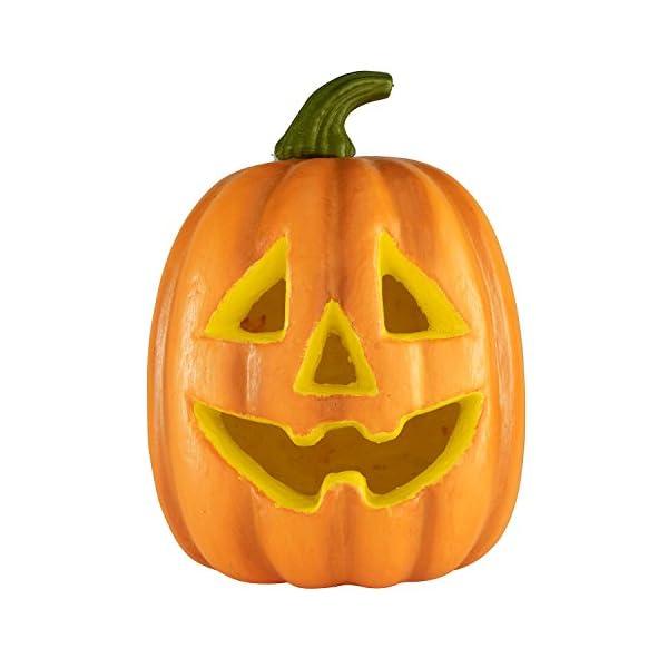 Lights4fun Zucca di Halloween a Pile con LED Cambia Colore 3 spesavip