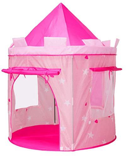 Benebomo Tende da Gioco per Bambini,Tenda per Bambini Castello Rosa,Tepee per Bambini,Tenda da Gioco per casa,Tenda da Giardino per casa da Gioco per Bambini