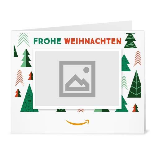 Amazon.de Gutschein zum Drucken mit eigenem Foto (Frohe Weihnachten)