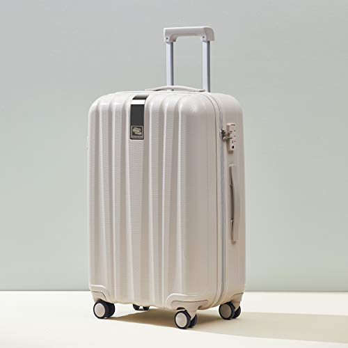 Hanke Suitcase Luggage 37L Lightweight Carry on Mini Suitcases Travel Cabin Hard Shell Luggage with TSA Lock with 4 Wheel Spinner Suitcases, Ivory White