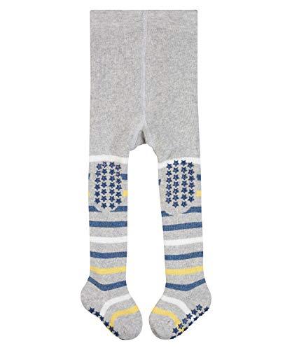 FALKE Unisex Baby Strumpfhose Multi Stripe, Baumwolle, 1 Paar, Grau (Stormy Grey 3822), 1-6 Monate (62-68cm)