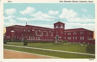 E2782 TX, Longview Christian Church Postcard