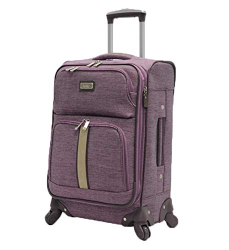 Nicole Miller New York Designer Luggage Collection - Large 28 Inch Expandable Softside Suitcase - Lightweight Checked Bag With 4-Rolling Spinner Wheels (Cameron Lavender)