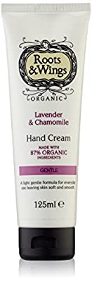 Roots & Wings Organic Gentle Lavender & Chamomile Hand Cream 125ml