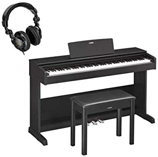 $899 » Yamaha Arius YDP-103 Digital Home Piano with Bench, Black Walnut + H&A Closed Back Studio Headphones