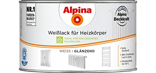 Alpina Weißlack für Heizkörper Heizkörperlack 300ml weiss glänzend