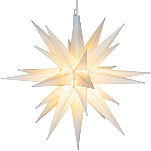 Kringle Traditions 14' White Star Outdoor Decoration, Christmas LED Star Decor