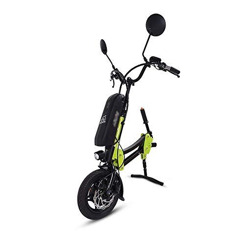 WXDP Autopropulsado 36V / 12AH Tractor Handcycle Handbike Sin escobillas Removible Discapacitado Cabeza de tracción del Coche Ancianos Marco de vehículo eléctrico Conecto