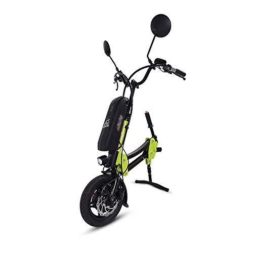 DJP Rollstuhl, 36V / 12Ah Traktor Handcycle Handbike Brushless Removable Disabled Car Traktionskopf Ältere Elektrofahrzeug Rollstuhlrahmen Frontantriebshalterung Anschluss