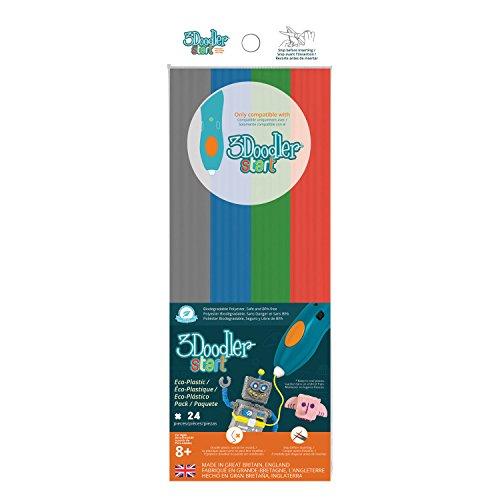 3 Doodler 62124 - Start Plastic Packs, Mehrfarbig