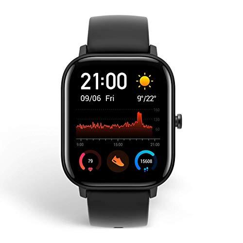 Amazfit GTS Smartwatch Fitness tracker con multitud de perfiles de actividad físcia y con GPS embebido, resistencia al agua 5 ATM (Negro) miniatura