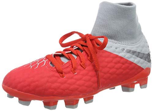 Nike Unisex-Kinder Jr Hypervenom 3 Academy Df Fg Futsalschuhe, Mehrfarbig (Lt Crimson/MTLC Dark Grey/Wolf Grey 600), 33 EU