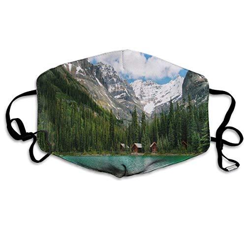 mundschutz Atmungsaktive Gesichtsbedeckung Mundbedeckung Staubdicht Kanada Ohara Lake Yoho National Park Mit Bergen Natur Landschaft Kunst Foto, Gesichtsdekorationen