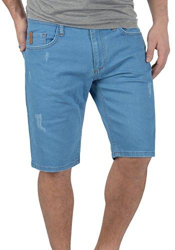 Redefined Rebel Monfire Herren Jeans Shorts Kurze Denim Hose Mit Destroyed-Optik Aus Stretch-Material Regular Fit, Größe:M, Farbe:Dusty Blue