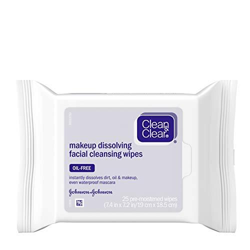 Clean & Clear Lingettes démaquillantes Makeup Dissolving pour le visage - 25/paquet