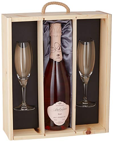 Photo of Autreau Brut Premier Cru Rose with 2 Sensation Flutes in Gift Box Champagne Non Vintage, 75 cl
