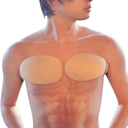 LSAltd Erhöhen Sie die selbstklebenden Brustmuskel-Silikon-Pad-Aufkleber für Männer