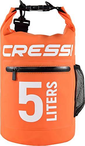Cressi Dry Bag with Zip Mochila Impermeable con Cremallera para Actividades Deportivas, Unisex Adulto, Naranja, 15 L