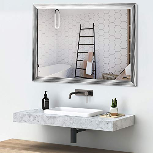 NeuType Rectangular Hanging Mirror Wall Mirror for Bathrooms, Entryways, Living Rooms and -