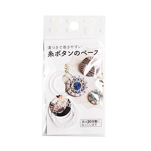 NBK 糸ボタンベース プラスチック製 25mm 透明 3個 SGM-SB25