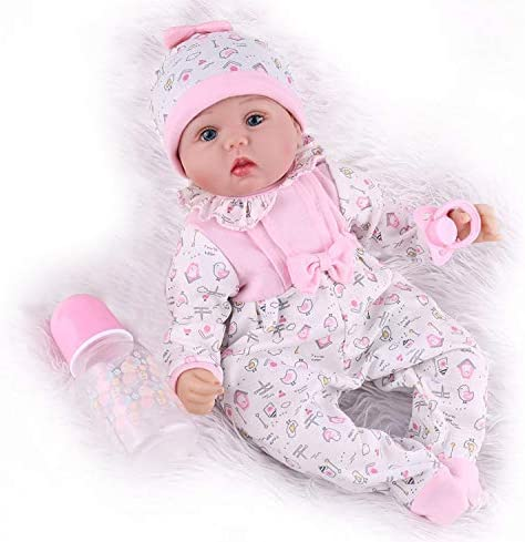 Kaydora Reborn Baby Doll Girl 16 inch Soft Weighted Body Cute Lifelike Handmade Silicone Doll product image