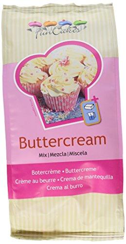 FunCakes Mix für Buttercreme: Fertigmischung, Einfach zu verwenden, cremig, perfekt zum Dekorieren von Torten, Überziehen, Füllen und Dekorieren von Torte und Cupcakes, Halal. 1 kg, 76161