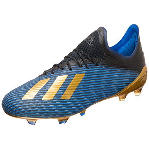 adidas X 19.1 FG, Bota de fútbol, Core Black-Gold Metallic-Football Blue, Talla 6.5 UK (40 EU)