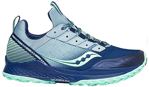 Saucony Women's Mad River TR Trail Running Shoe, Blue/Navy, 8