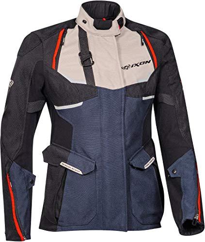 Ixon Eddas - Chaqueta textil para mujer, talla XS, color negro y azul