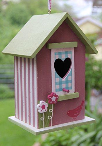 Dekorativer (N14) Nistkasten Herz-Rot Vogelhaus-Vogelhäuschen-sauberste Verarbeitung-Vogelhaus Garten Deko