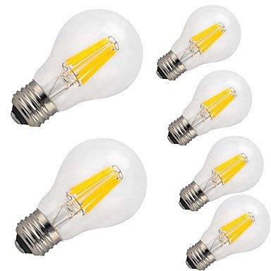 HZZymj-12W E26/E27 Ampoules à Filament LED A60(A19) 12 COB 1000 lm Blanc Chaud Blanc Froid Décorative AC 100-240 V 6 pièces