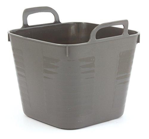 GELCO Design Cooper Panier de Rangement Carre GM, Plastique, Carbone, 12 x 12 x 20 cm
