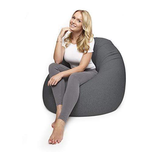 Lumaland Flexi Comfort Sitzsack Premium Bean Bag Sitzkissen Medium 142 x 84 cm Dunkelgrau