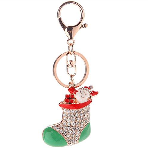 Dylandy - Llavero con hebilla para bolso de mano, diseño de pareja romántica, regalo de Navidad, Socks, 11,4 * 4 cm